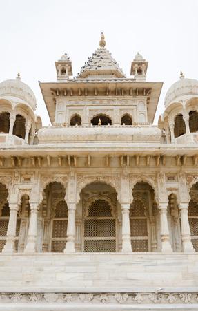 ornately: Jaswant Thada. Ornately carved white marble tomb of Jodhpur, India