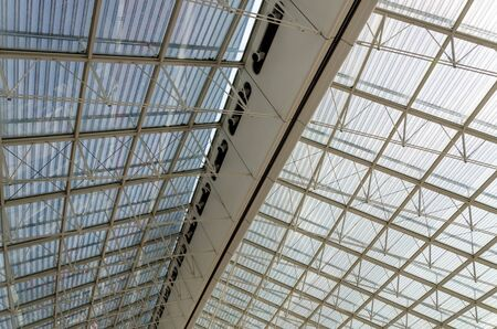 charles de gaulle: Roof Structure Detail of Charles de Gaulle airport in Paris, France