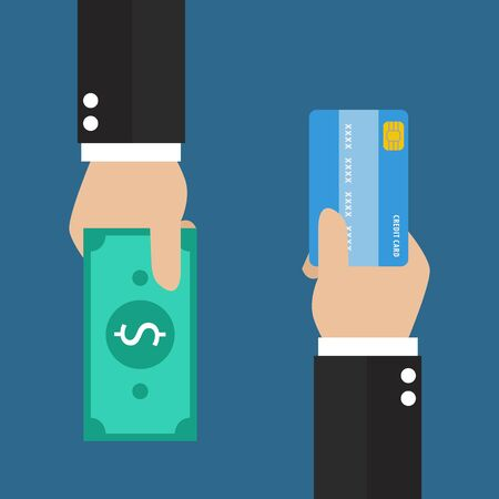 cash back: Businessman hand with credit card and cash back for you. Means of payment