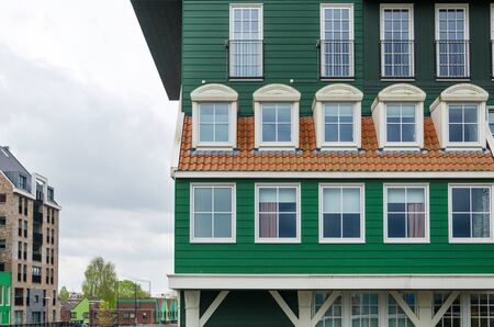 zaan: Traditional architecture of the Zaan region  in Zaandam, The Netherlands.