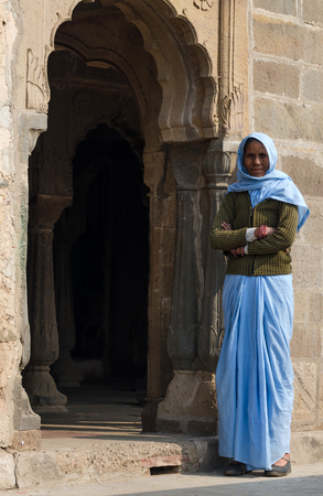 chand baori: Jaipur, India - December 30, 2014: Unknown indian people live in Chand Baori Stepwell, Jaipur, Rajasthan, India on December 30, 2014. Editorial