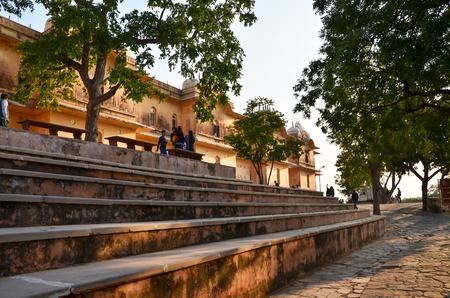 maharaja: Jaipur, India - December 30, 2014: Tourist visit Nahargarh Fort in Jaipur, Rajasthan, India.  Nahargarh Fort Built mainly in 1734 by Maharaja Sawai Jai Singh II, the founder of Jaipur. Editorial