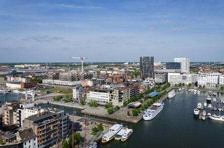 Jachten afgemeerd in de Willem Dock, België.