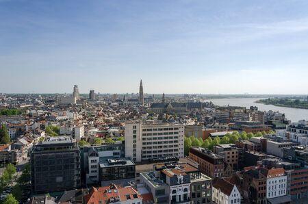 Luchtfoto van Antwerpen, België.