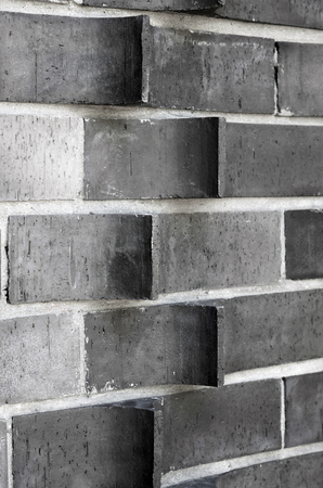 extruded: Detail of extruded brick wall, horizontal arrangements Stock Photo