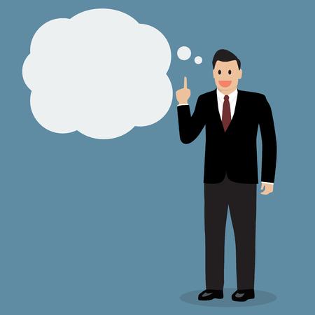 businessman thinking: Businessman thinking. Vector Illustration Illustration