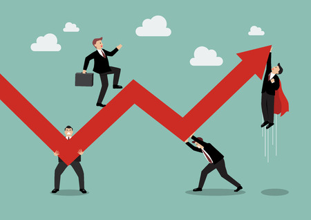 Business Teamwork Maintaining Profits. Business Concept Иллюстрация