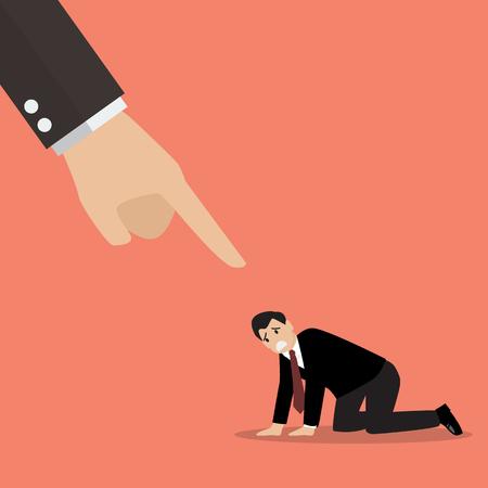 Angry boss se plaint d'affaires désespéré. Vector Illustration