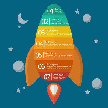 new business: Spaceship infographic. Project start up new business.