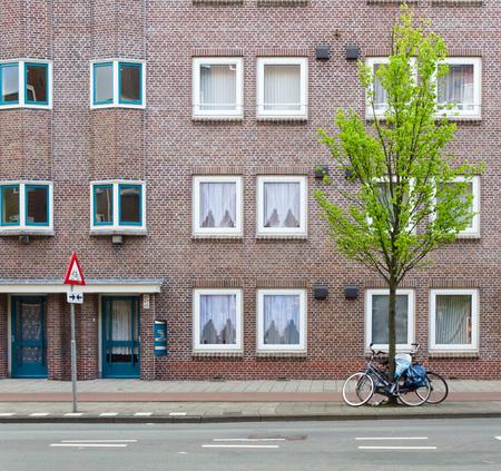 brick building: Brick Building in Amsterdam, Netherlands Editorial
