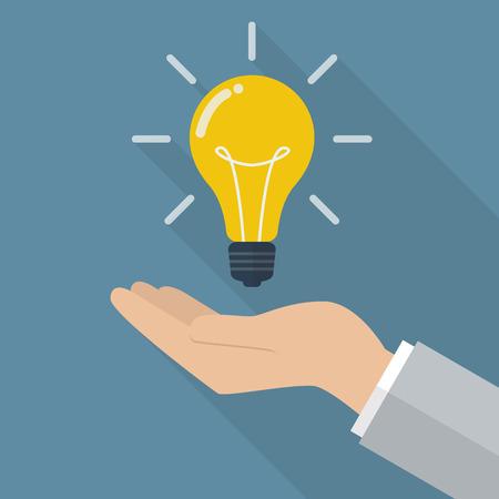 lightbulb idea: Hand holding lightbulb idea. Vector Illustration Illustration