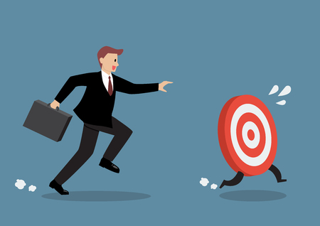 catch: Businessman try to catch the target. Business concept