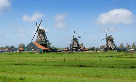 wind mills: Wind mills in Zaanse Schans, The Netherland.