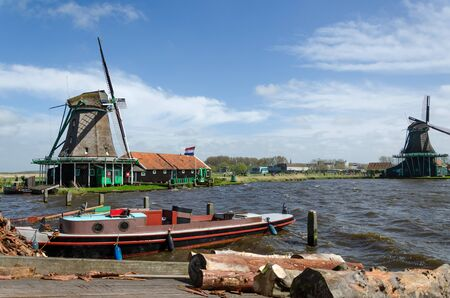 wind mills: Wind mills in Zaanse Schans, Travel Destination in The Netherlands.