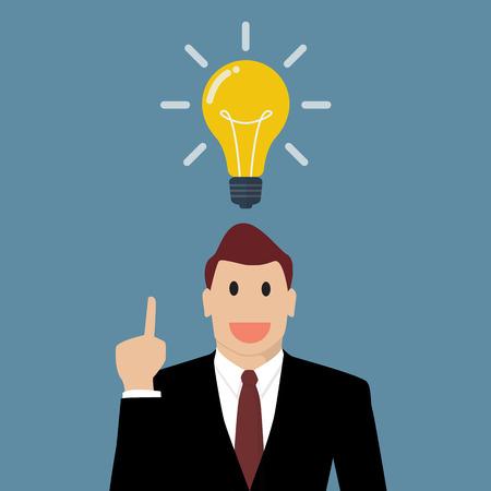 businessman thinking: Businessman thinking a new idea. Vector Illustration Illustration