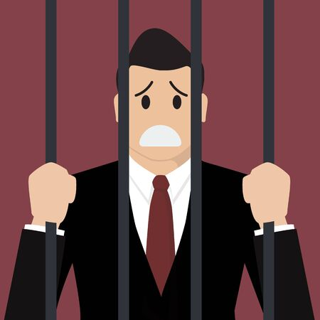 Businessman in prison. Business concept