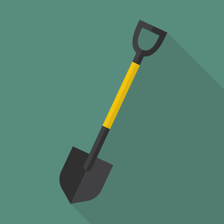 hand trowel: Shovel flat icon. flat style with long shadow
