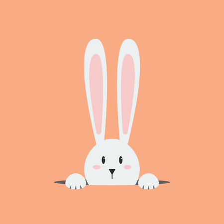 roztomilý: Bílý králík velikonoční. velikonoční zajíček