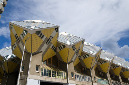 dweling: Cube houses in the center of the Rotterdam, The Netherlands