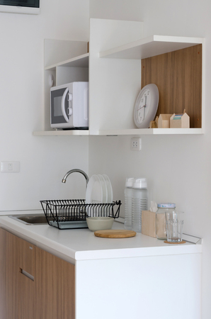 pantry: Modern pantry with utensil in apartment