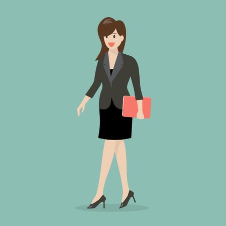 business woman: Business woman walking illustration Illustration