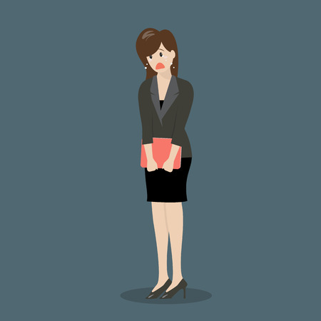 weeping: Weeping business woman. Business concept