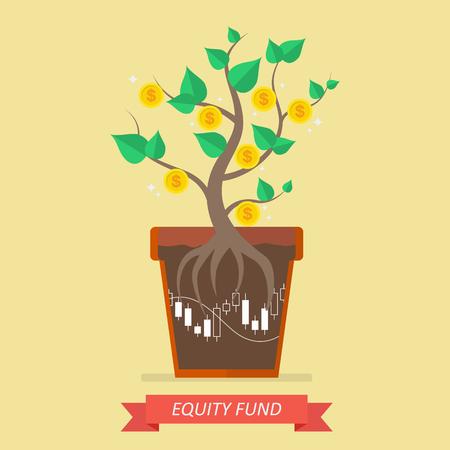 equidad: Los ingresos pasivos del fondo de capital. Concepto de negocio