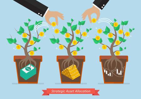 allocation: Strategic asset allocation. Business concept