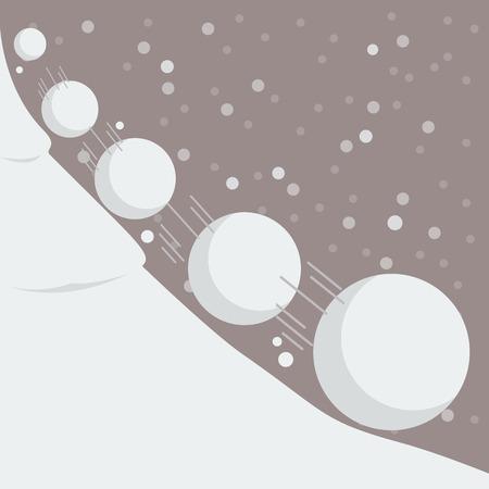 Snowball effect. Vector Illustration