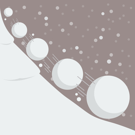 Snowball effect. Vector Illustration
