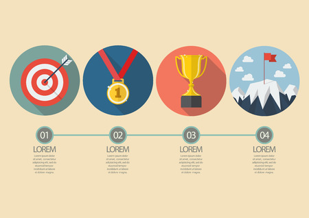 conquest: Sport winner concept infographic. Vector illustration Illustration
