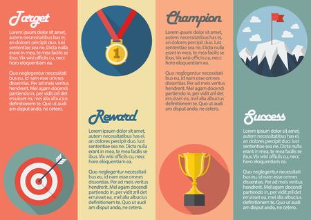 conquest: Sport winner icon infographic. Vector illustration Illustration