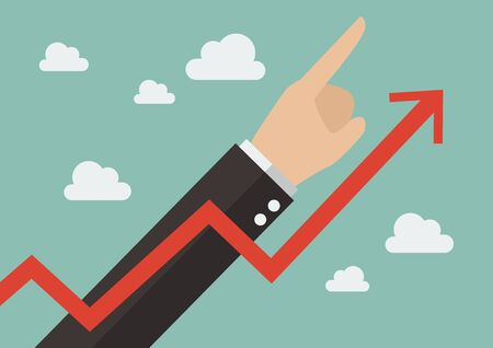 profits: Let profits run. Business concept vector illustration