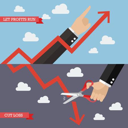 Strategie der Technischen Analyse. Geschäftskonzept