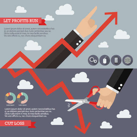 technical analysis: Strategy of Technical Analysis Infographic. Business concept Illustration