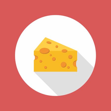 edibles: Cheese flat style icon. Vector illustration Illustration