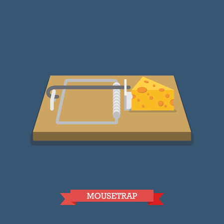 mouse trap: Wallet flat icon. Flat style vector illustration Illustration