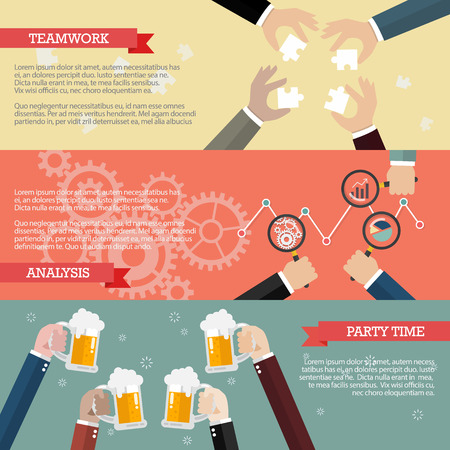 teamwork: Process of business teamwork infographic. business teamwork concept Illustration