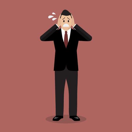 Stressed business man. Illustration