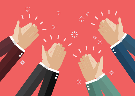 Human hands clapping. vector illustration Vectores