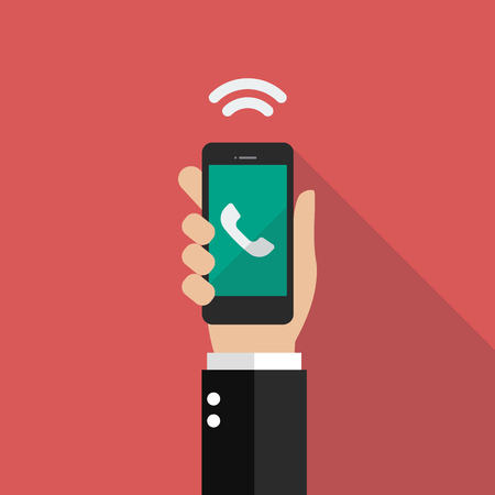 Conference call. Flat style vector illustration