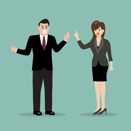 Business people having a quarrel. vector illustration