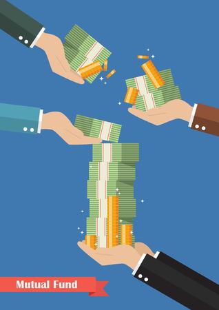Fondsmanager, der Bargeld hält. Geschäftskonzept