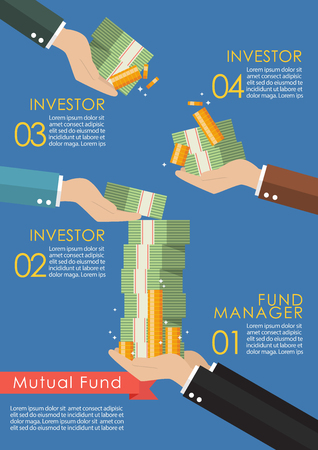 Mutual fund infographic concept. Business concept Illustration