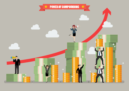 Power of compounding. Vector illustration