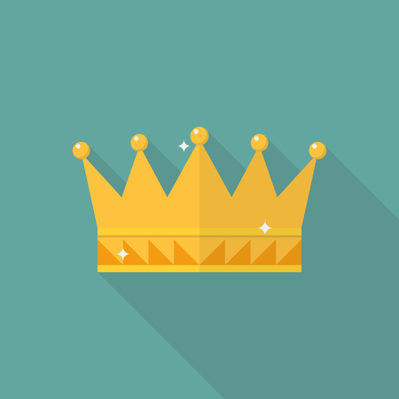 Crown icon in flat style. Vector illustration Illustration