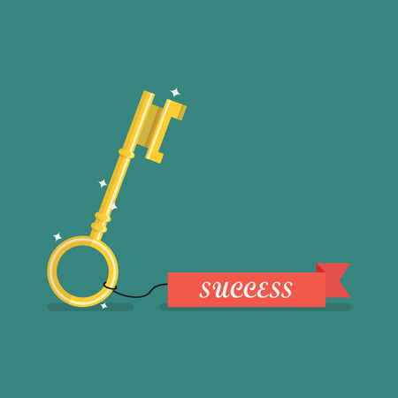 private access: Key to success. Vector illustration