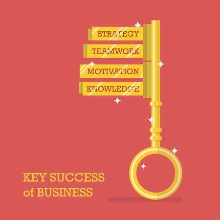 administrador de empresas: Key success of business. Vector illustration Vectores