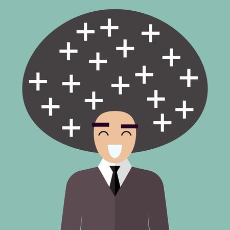 Positive thinking. Vector illustration