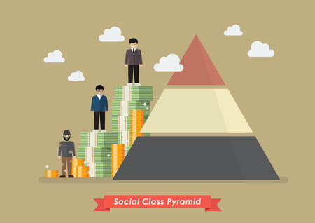 Social class pyramid. Vector illustration